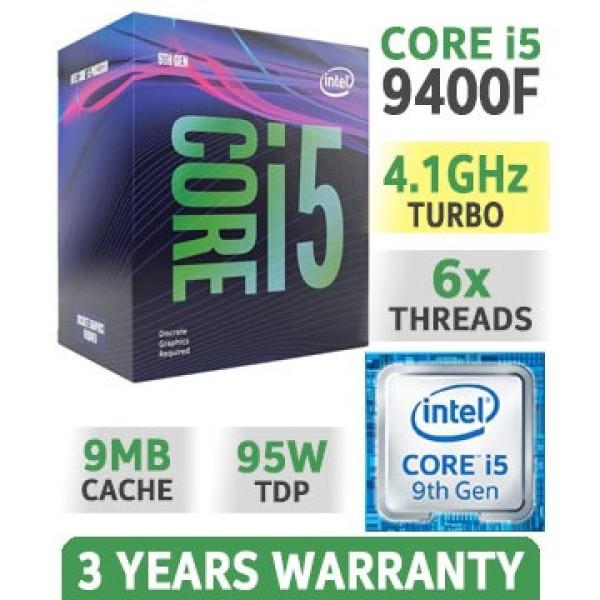 Bảng giá Bộ Vi Xử Lý CPU Intel Core i5 9400F 2.90Ghz Turbo up to 4.10GHz / 9MB / 6 Cores, 6 Threads Phong Vũ