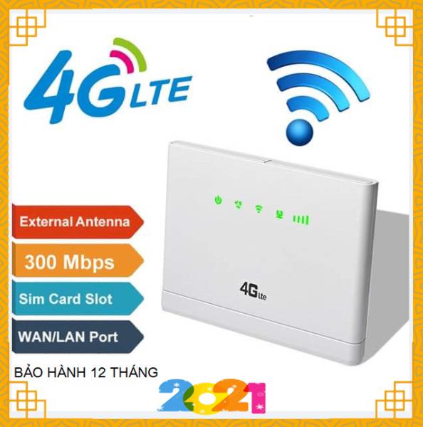 Bộ phát Wifi từ sim 3G/4G LTE Router CP-108 - Tốc độ 300Mbps, 02 build-in Antenna 5dbi , giới hạn kết nối 32 thiết bị .