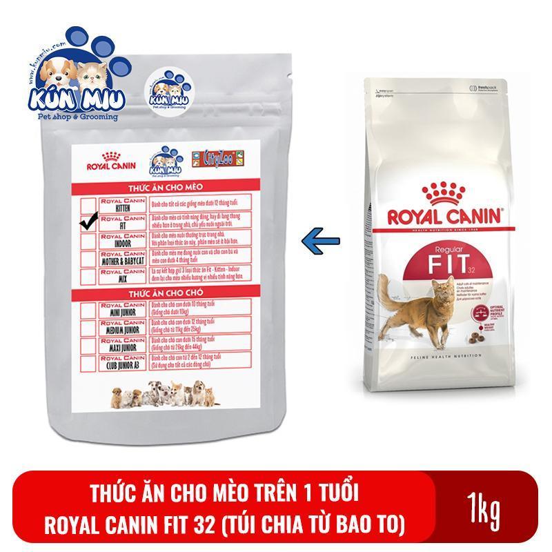 Thức ăn cho mèo trưởng thành trên 1 tuổi Royal Canin Fit 32 Túi zip 1kg (chia từ bao 15kg)