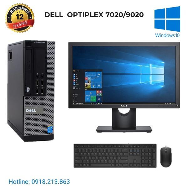 Bảng giá Bộ máy tính để bàn Dell Optiplex 3020/7020/9020. G3220/ ram 8GB/ SSD 120GB, màn hình Dell 18.5 inch, bàn phím chuột Dell Phong Vũ