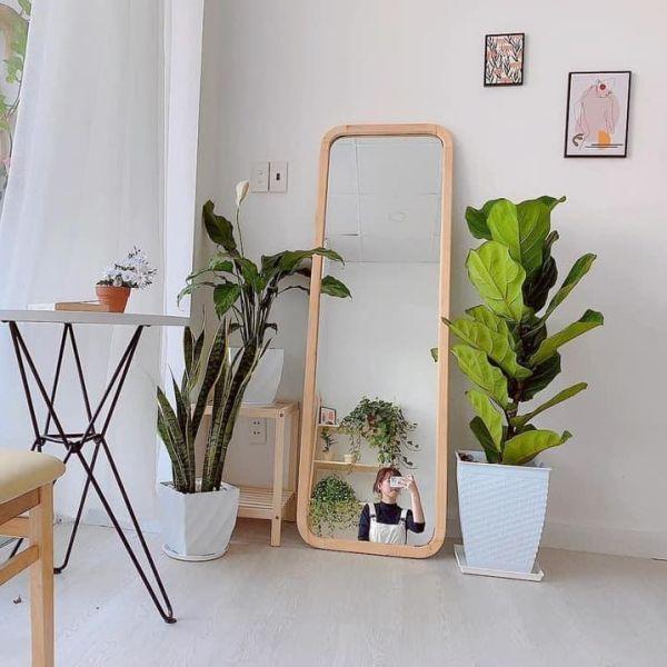 Gương đứng soi toàn thân treo tường hoặc dựa tường VUADECOR kích thước 40x115cm giá rẻ
