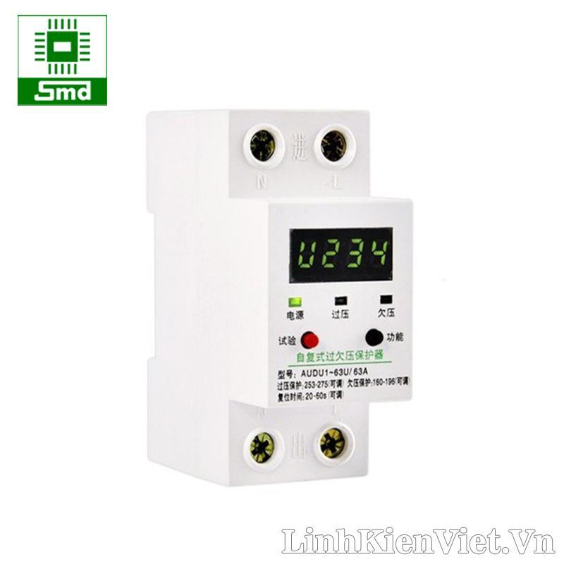 Aptomat bảo vệ quá áp, sụt áp có cài đặt thời gian và điện áp