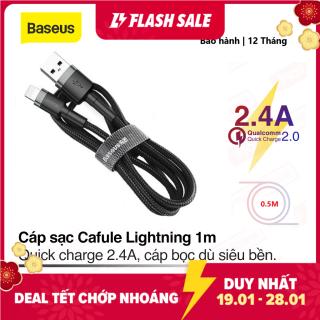 Cáp sạc Baseus sạc nhanh và truyền dữ liệu tốc độ cao Cafule Lightning cho iPhone iPad 2,4A - Bảo hành 12 tháng, Sạc nhanh, Siêu bền thumbnail