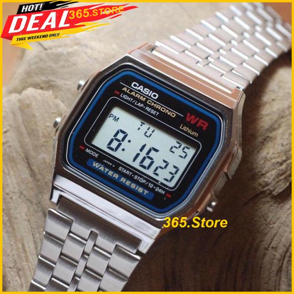 Nơi bán Đồng Hồ Unisex Casio A159 Size 34mm, Dây Thép Không Gỉ, Cực Đẹp, Thời Trang, Cá Tính - 365.Store