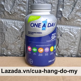 Vitamin Tổng Hợp One A Day Men s 50+ cho nam giới trên 50 tuổi 300 viên bổ sung năng lượng cho cơ thể thumbnail