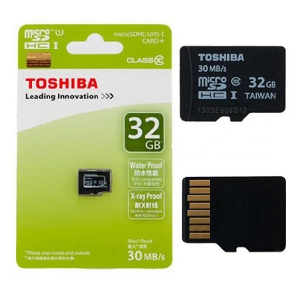Thẻ nhớ MicroSDHC Toshiba M203 UHS-I U1 32GB 100MB.s - chuyên camera và điện thoại [Đen] - Toshiba M203 UHS-I U1