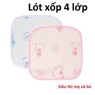 Lót chống thấm thay bỉm cho bé sơ sinh 4 lớp siêu mềm siêu thấm kích thước 30 x30cm thumbnail