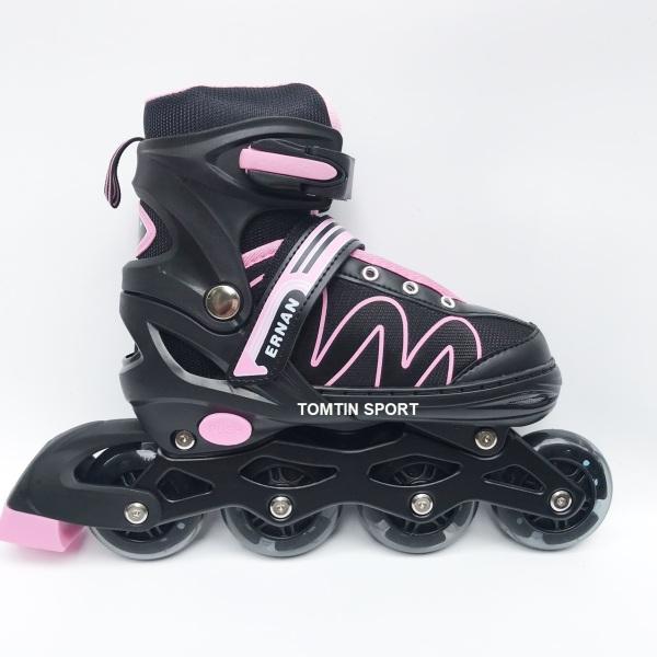 Mua [MẪU MỚI] Giày patin có đèn led 8 bánh phát sáng tặng kèm bảo hộ chân tay cho trẻ em từ 3-12 tuổi