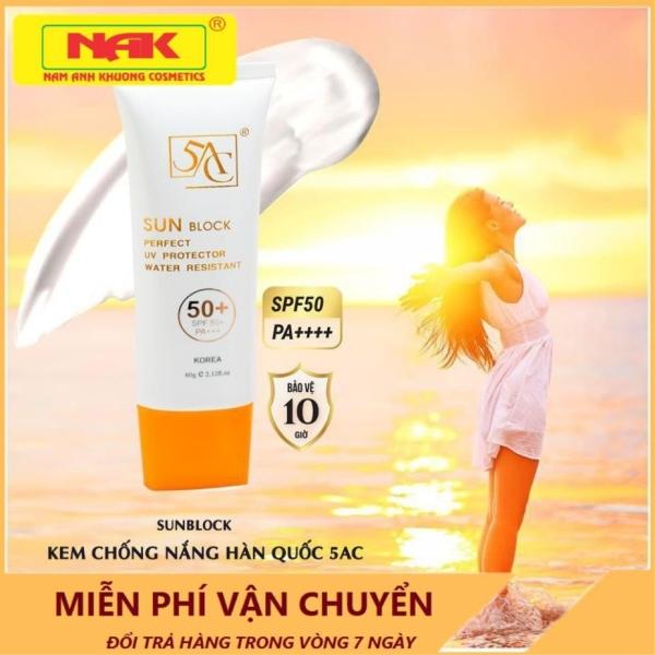 Kem chống nắng dưỡng ẩm lâu trôi 5AC Hàn quốc dùng được cho da nhờn