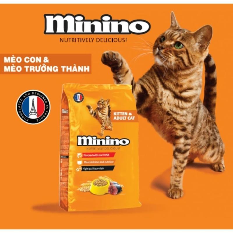 Combo 6 gói Thức ăn cho mèo Minino cá ngừ của Pháp 1,3kg