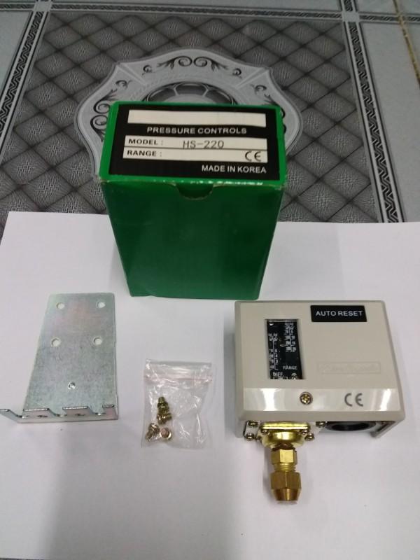 Rơ le áp suất HS-220 20kg Hàn Quốc - công tắc áp suất
