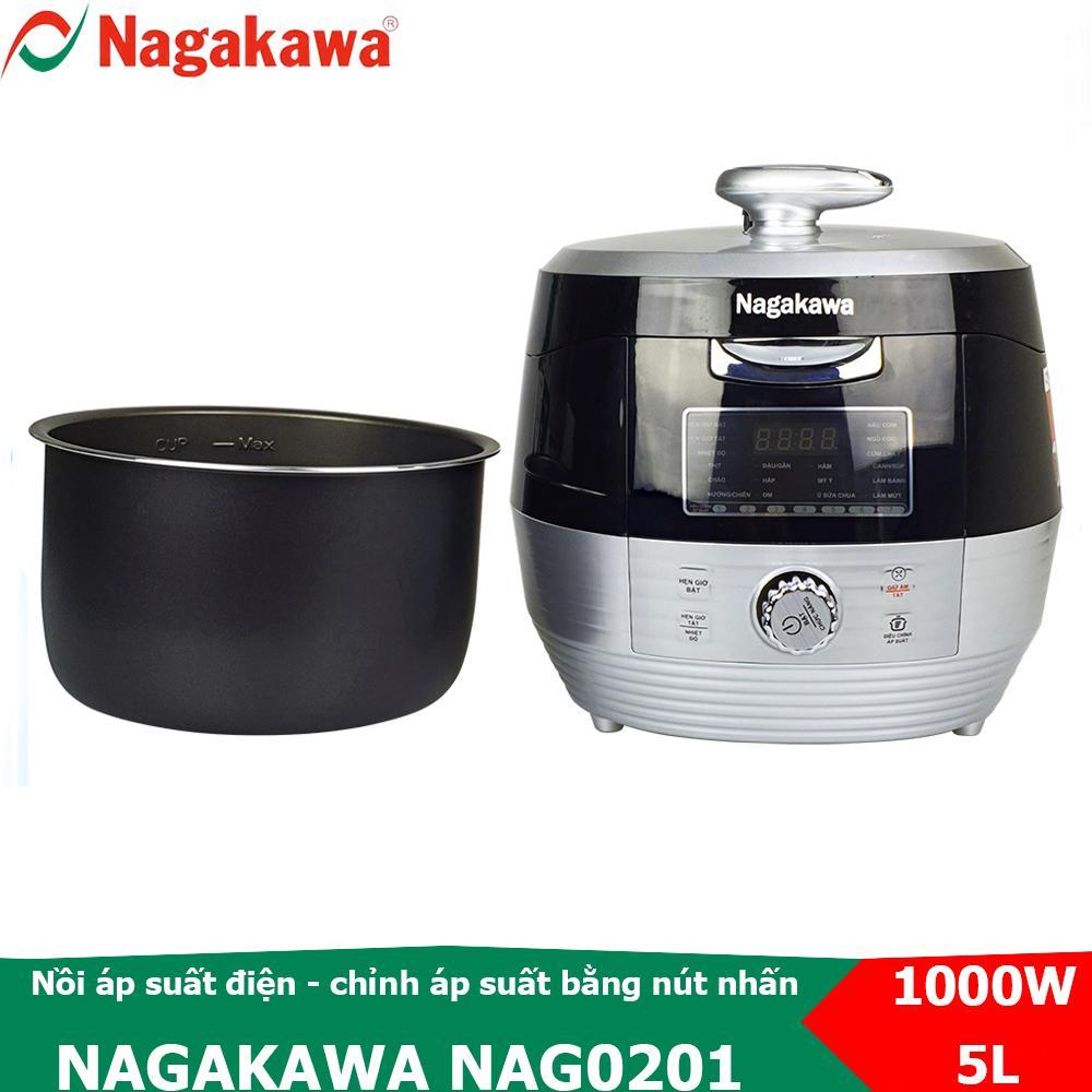 Nồi áp suất điện điện tử Nagakawa NAG0201 chức năng điều chỉnh áp suất