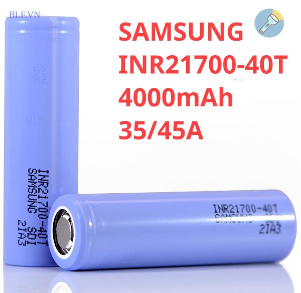 [P22] Pin Samsung 40T 21700 4000mAh 35A chuyên xả cao