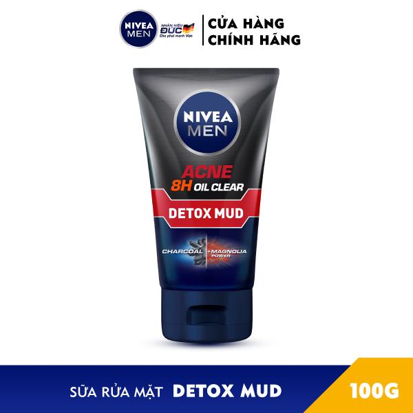 Sữa Rửa Mặt NIVEA MEN Detox Mud Bùn Khoáng Giúp Giảm Mụn & Hư Tổn Da (100G) - 83940 giá rẻ