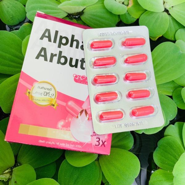 Viên kích trắng da body Alpha Arbutin Collagen 3X Thái Lan - Hộp 1 vĩ 10 viên
