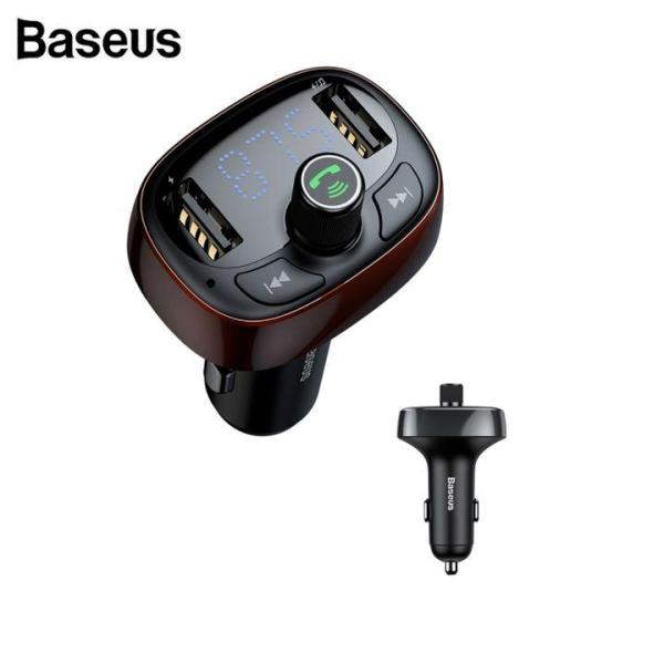 Tẩu sạc nghe nhạc ô tô, xe hơi cao cấp Baseus CCALL-TM01, kiêm nghe nhạc MP3 kết nối điện thoại qua bluetooth, kết nối dàn âm thanh trên xe qua sóng FM