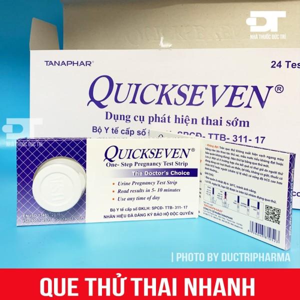 Que thử thai nhanh quickseven- dụng cụ phát hiện thai sớm (hộp 1 que), cam kết hàng đúng mô tả, chất lượng đảm bảo an toàn đến sức khỏe người sử dụng