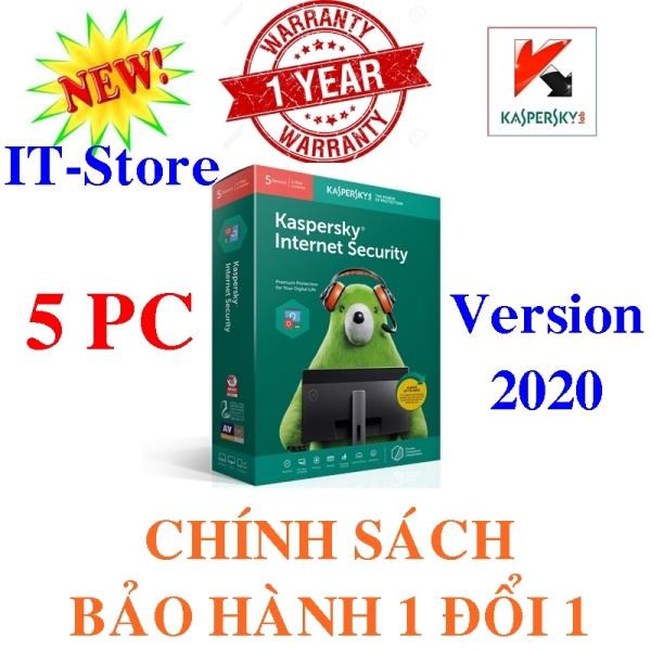 Bảng giá KASPERSKY INTERNET SECURITY 2020 - 5PC/Năm - BOX NAM TRƯỜNG SƠN Phong Vũ