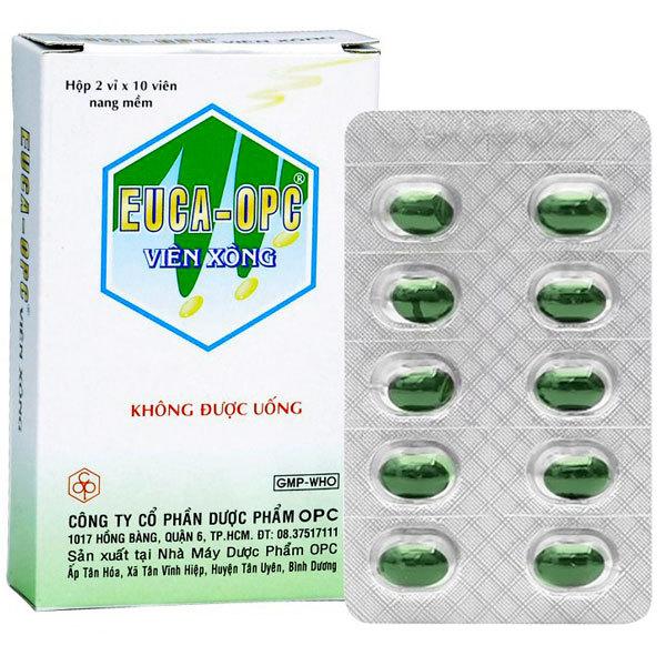 Euca-OPC Viên Xông - Dùng sát trùng mũi họng, xông khi cảm mạo (20 viên)