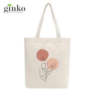 Túi tote vải mộc GINKO dây kéo in hình Minimalism Art (nhiều mẫu) thumbnail
