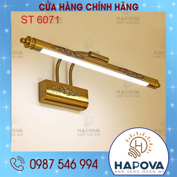 Đèn soi tranh soi gương đồng 3 màu ánh sáng 60cm HAPOVA ST 6073M + Bóng Led Siêu sáng 3 màu ánh sáng