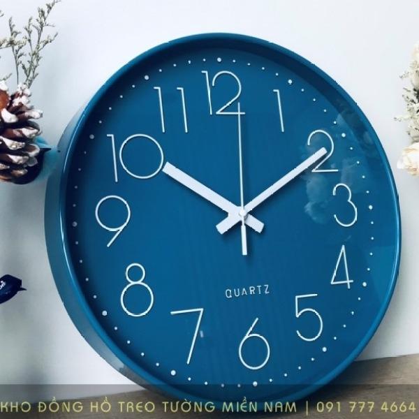 [ 08 Mẫu Cao Cấp] Đồng hồ treo tường Quartz kim trôi cao cấp 30cm - Không tiếng động bán chạy
