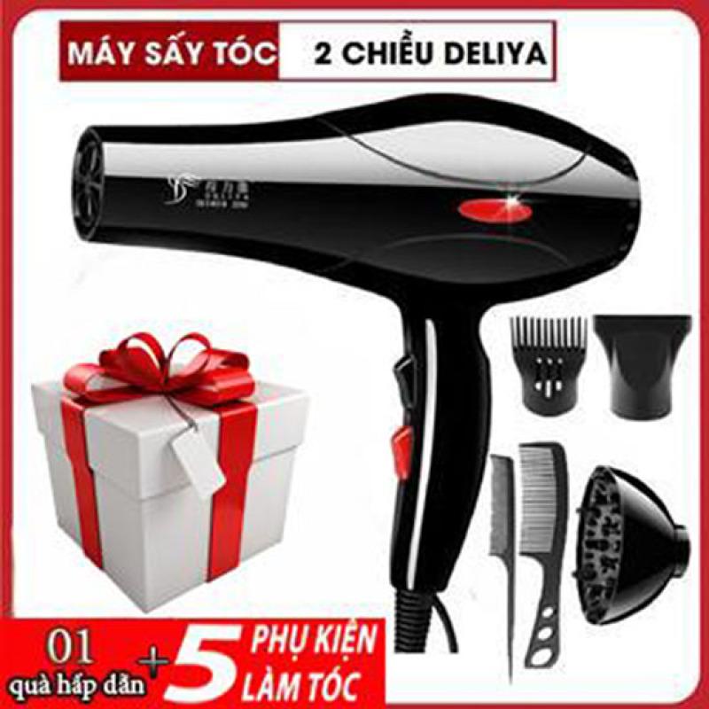 Máy sấy tóc Deliya 8018 công suất 2200W có 3 chiều nóng, vừa, mát thỏa sức lựa chọn, không lo tóc hư tổn - TẶNG KÈM 5 PHỤ KIỆN TẠO KIỂU TÓC & 1 MÓN QUÀ HẤP DẪN [ BẢO HÀNH 1 NĂM - ĐỔI MỚI 1-1 TRONG 7 NGÀY ] cao cấp
