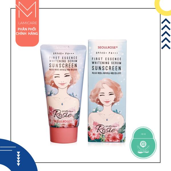 Kem Chống Nắng Rosie SeoulRose First Essence Whitening Serum Sunscreen Spf45+ PA+++ 45g
