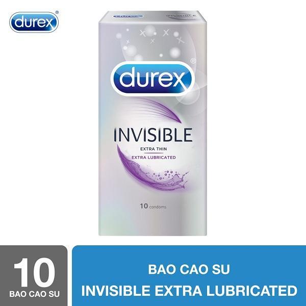 Bao cao su Durex Invisible Extra Lubricated 10s - Hãng phân phối chính thức