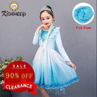 Váy Bé Gái Kidsheep, Váy Công Chúa Đông Lạnh Váy Elsa Tuyết Đầm Ren Bé Gái Trang Phục Hóa Trang Bé Gái Áo Choàng Bông Tuyết Lấp Lánh Bộ Hóa Trang Tiệc Sinh Nhật Trang Phục Dự Tiệc Hóa Trang Công Chúa