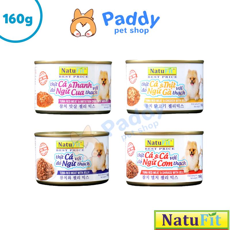 [HCM]Pate NatuFit Cho Chó Mèo - Thịt đỏ cá ngừ + Thịt gà thạch (Lon 160g)