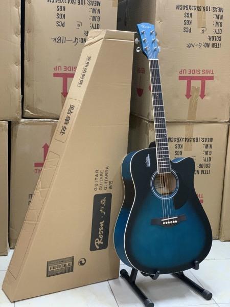 Guitar tosen G11bk màu xanh