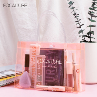 Focallure PVC PINK Handbag & Gift bag Waterproof transparent PVC Travel pouch Cosmetic Bag thumbnail
