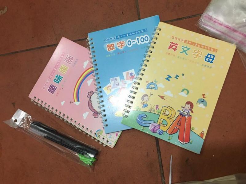 Mua Combo 3 sách tập tô kèm bút