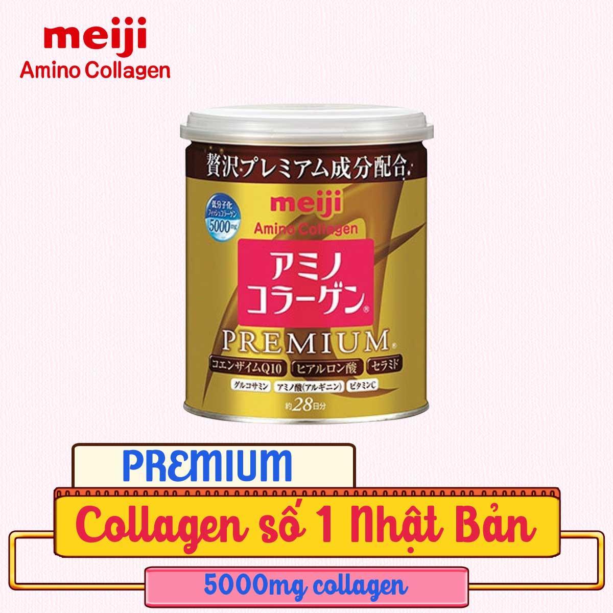 Bột uống bổ sung Collagen (Cao cấp) - Meiji Amino Collagen Premium 200g