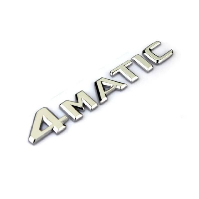 Decal tem chữ 4 MATIC dán xe đuôi ô tô, xe hơi G30219 kích thước 14*2.3cm