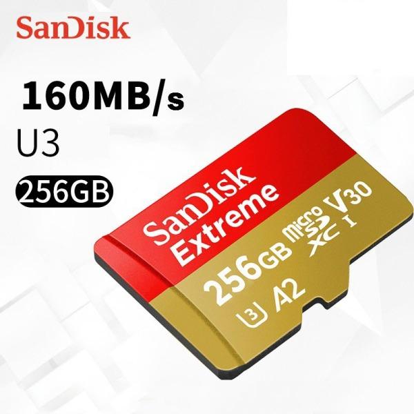 【Giá Sốc-Shop Mới】 Thẻ Nhớ MicroSDXC SanDisk Extreme 256GB V30 U3 4K A2 R160MB/s W90MB/s - No Adapter (Vàng) - Hàng Chính Hãng