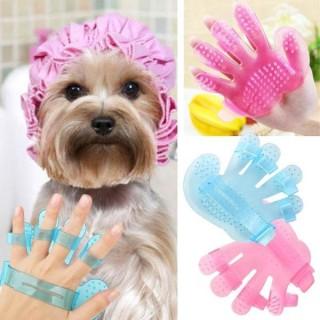 Bàn chải tắm cho thú cưng, bàn chải tắm cho chó mèo chải lông rụng mát xa cho chó mèo bàn chải năm ngón nhựa pha lê chà chải chuốt để tắm cho thú cưng thumbnail