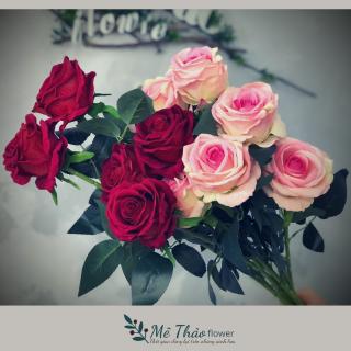 [ẢNH SHOP CHỤP] Cành Hoa Hồng Giả Trang Trí Tết Chất Liệu Hoa Lụa Cao Cấp Trang Trí Nhà Cửa Của Mê Thảo Flower thumbnail