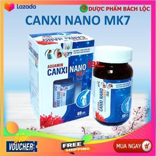 Viên Uống Bổ Sung Canxi, Vitamin D3, AQuamin 400mg Nhập Khẩu Anh, Canxi MK7 Giup Phát triển chiêu cao ở trẻ, giảm loãng xương ở người lớn - Hộp 60 viên thumbnail