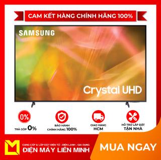 Smart Tivi Samsung 4K 43 inch UA43AU8100 Mới 2021 - 3 Cổng HDMI,Hệ điều hành, giao diện Tizen OS,Remote thông minh tìm kiếm bằng giọng nói,Điều khiển tivi bằng điện thoại Ứng dụng SmartThings thumbnail