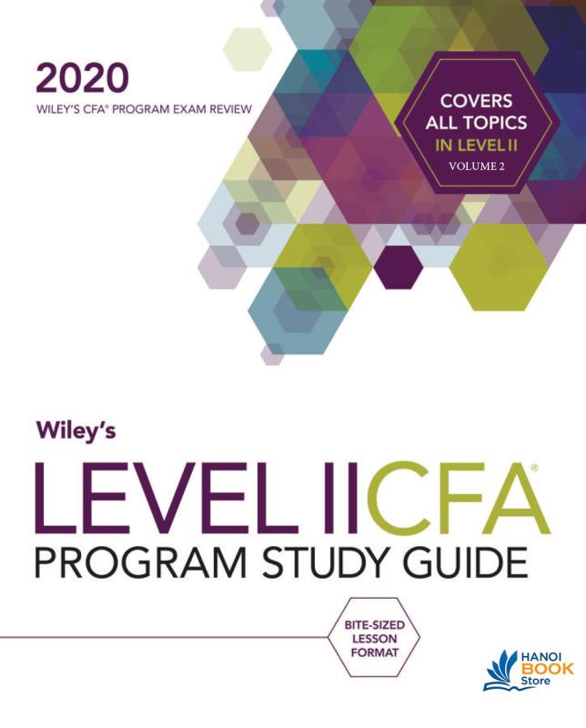 CFA 2020 L2 wiley study guide V2 - Hanoi bookstore