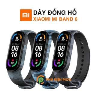 Dây đồng hồ Xiaomi Mi Band 6 cao cấp siêu mềm phong cách camo rằn ri nhiều màu - Dây silicon MiBand 6 thumbnail