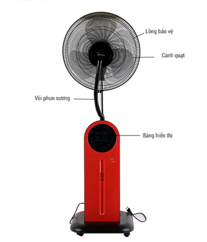 [Tặng bộ chén đũa Hàn Quốc+móc áo Nhật] Quạt phun sương Midea FS40-13QR có chức năng điều khiển từ xa, đuổi muỗi, hẹn giờ bật tắt, tạo hơi mát cho cả gia đình với nhiều chế độ gió, đánh bay cơn nóng màu hè