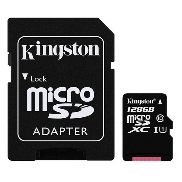 Thẻ Nhớ Kingston Micro SDHC 128GB (80MB/s) + Adapter