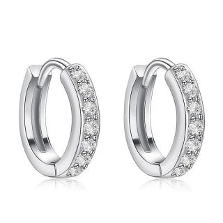 Khuyên tai bạc nữ cao cấp dáng tròn B2425 Bảo Ngọc Jewelry thumbnail