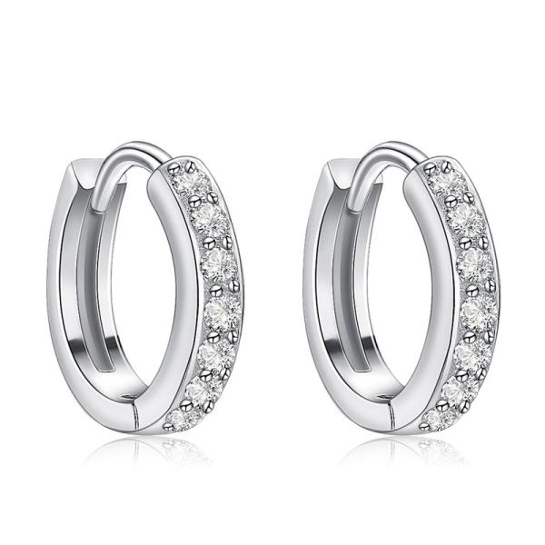 Khuyên tai bạc nữ cao cấp dáng tròn B2425 Bảo Ngọc Jewelry