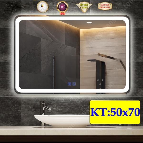gương phòng tắm có đèn led cảm ứng thông minh kích thước 50x70 cm - guonghoangkim giá rẻ