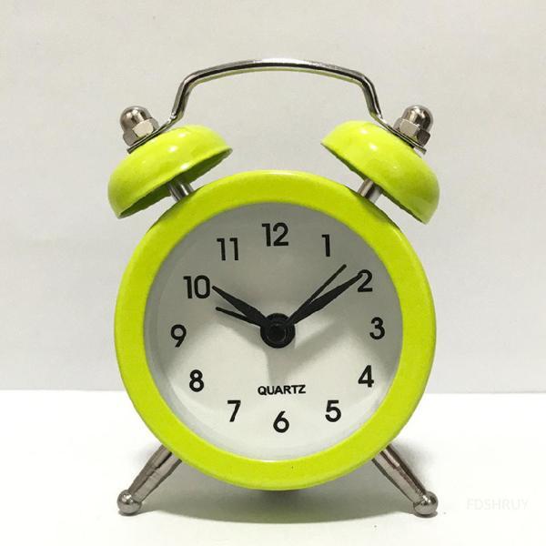 Nơi bán Đồng hồ báo thức Retro Twin Chuông hoạt động lớn Phòng ngủ gia đình Đồng hồ báo thức thạch anh 【Free Shipping】