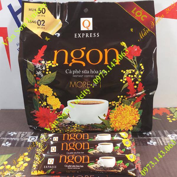 Cà phê sữa Ngon Trần Quang bịch lớn 1.04Kg (52 gói dài * 20g) Mẫu xuân 2021 Instant Coffee mix 3 in 1